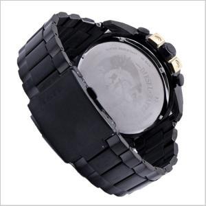 ディーゼル DIESEL クロノグラフ腕時計  DZ4338 メガチーフ MEGA CHIEF メンズ/ブラックIP x ゴールド|bellmart|04