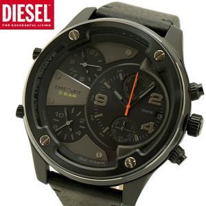 ディーゼル DIESEL クロノグラフ腕時計 ボルトダウン BOLTDOWN 牛革ベルト ブラック メンズ DZ7425|bellmart