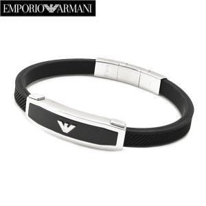 エンポリオ アルマーニ EMPORIO ARMANI ブレスレット ラバー x ステンレス・メンズ EGS1543040|bellmart