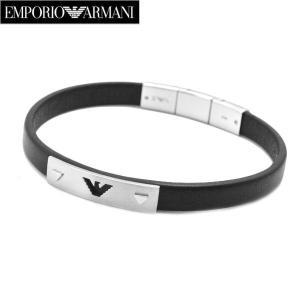 エンポリオ アルマーニ EMPORIO ARMANI ブレスレット レザー x ステンレス・メンズ EGS2411040|bellmart