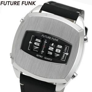 FUTURE FUNK フューチャー ファンク ローラー式腕時計 牛革ベルト シルバー文字盤 FF101-SV-LBK|bellmart