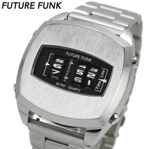 FUTURE FUNK フューチャー ファンク ローラー式腕時計 ステンレスベルト シルバー文字盤 FF101-SV-MT|bellmart