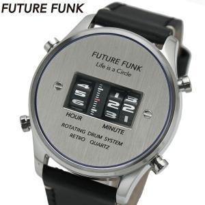 FUTURE FUNK フューチャー ファンク ローラー式腕時計 牛革ベルト シルバー文字盤 FF102-SVBU-LBK|bellmart