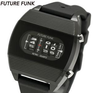 FUTURE FUNK フューチャー ファンク ローラー式腕時計 ラバーベルト ブラック文字盤 FF104-BK-RB|bellmart