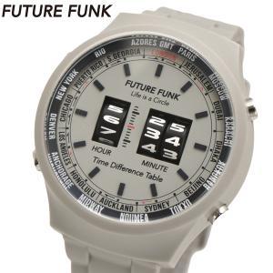FUTURE FUNK フューチャー ファンク ローラー式腕時計 ポリウレタンベルト グレー FF105-LG|bellmart
