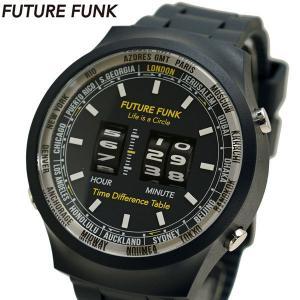 FUTURE FUNK フューチャー ファンク ローラー式腕時計 ポリウレタンベルト ネイビー FF105-NV|bellmart