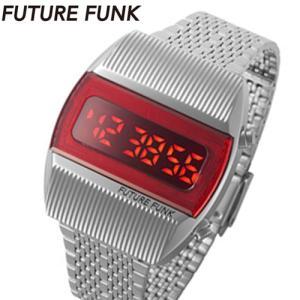 フューチャーファンク FUTURE FUNK LED デジタル腕時計 ステンレスベルト シルバー FF201-SV-MT bellmart