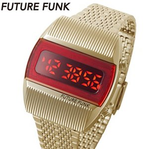 フューチャーファンク FUTURE FUNK LED デジタル腕時計 ステンレスベルト ゴールド FF201-YG-MT bellmart