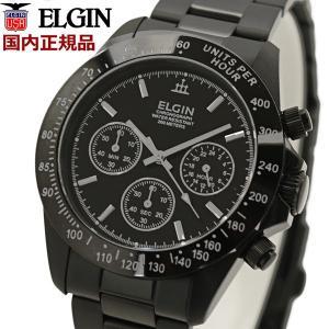 ELGIN エルジン 腕時計 メンズウォッチ  クロノグラフ ブラックIP FK1059B-W|bellmart