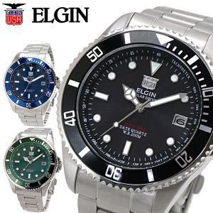 エルジン ELGIN ソーラー ダイバー腕時計 20気圧防水 太陽電池 メンズ 男性用 FK1426S|bellmart