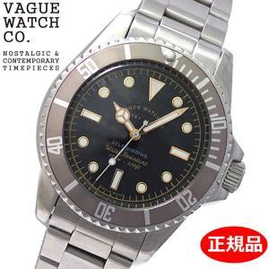 クリーナープレゼント VAGUE WATCH Co. ヴァーグ ウォッチ カンパニー 腕時計 GRY FAD(グレーフェド 機械式 自動巻き オートマチック ブラック文字盤 GF-L-001|bellmart