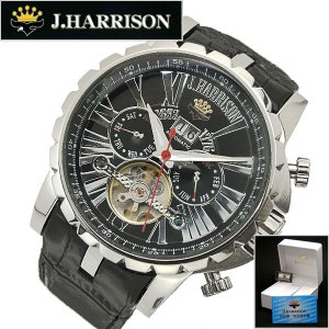 ジョンハリソンJ.HARRISON多機能両面スケルトンタイプ機械式(自動巻き)腕時計 牛革ベルト(正規品) JH-033SB|bellmart