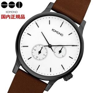 KOMONO コモノ 腕時計 Winston Double Subs White ウィンストン ダブルサブス ホワイト メンズ・レディース/ユニセックス KOM-W3054 bellmart