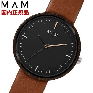 MAM ORIGINALS マム 木製腕時計 メンズ ウッドウォッチ エボニー Plano MAM646|bellmart