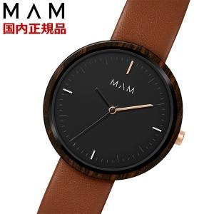 MAM ORIGINALS マム 木製腕時計 レディース ウッドウォッチ エボニー Plano MAM654|bellmart