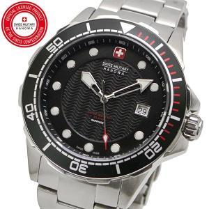 スイスミリタリー 腕時計 SWISS MILITARY NEPTUNE DIVER ネプチュ−ンダイバー メンズ/ステンレスベルト ブラック文字盤 ML-443|bellmart