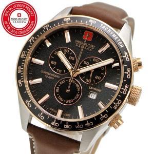 スイスミリタリー 腕時計 SWISS MILITARY PHANTOM CHRONO ファントムクロノ メンズ/レザーベルト ブラック文字盤 ML-447|bellmart