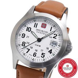 スイスミリタリー 腕時計 SWISS MILITARY CLASSIC ORIGINAL V クラシック オリジナル ユニセックスメンズ レディース/レザーベルト ホワイト文字盤 ML-453|bellmart