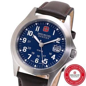 スイスミリタリー 腕時計 SWISS MILITARY CLASSIC ORIGINAL V クラシック オリジナル ユニセックスメンズ レディース/レザーベルト ネイビー文字盤 ML-454|bellmart