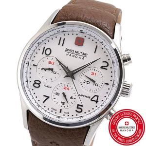 スイスミリタリー 腕時計 SWISS MILITARY NAVALUS MULTIFUNCTION ナバロス マルチファンクション メンズ/レザーベルト アイボリー文字盤 ML-456|bellmart