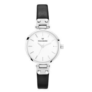 国内正規品 モックバーグ MOCKBERG 腕時計 Sigrid Petite レディース 28mm ブラック レザーベルト ホワイト文字盤 シルバー MO202|bellmart|02