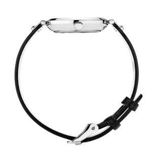 国内正規品 モックバーグ MOCKBERG 腕時計 Sigrid Petite レディース 28mm ブラック レザーベルト ホワイト文字盤 シルバー MO202|bellmart|03