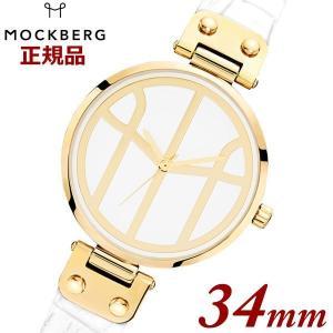 国内正規品 モックバーグ MOCKBERG 腕時計 Tsugumi White レディース 34mm ホワイトレザーベルト イエローゴールド 限定販売 MO620  【深田恭子さん着用モデル】|bellmart