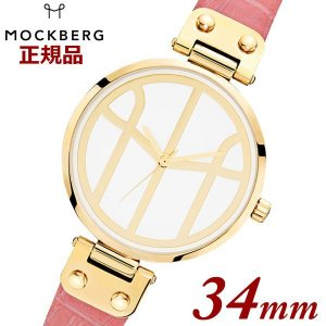 国内正規品 モックバーグ MOCKBERG 腕時計 Tsugumi Pink レディース 34mm ピンクレザーベルト ピンクゴールド 限定販売 MO622 【深田恭子さん着用モデル】|bellmart