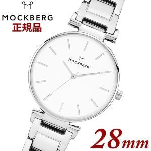 国内正規品 モックバーグ オリジナルMOCKBERG  Original 28 腕時計 SS Linked Strap レディース 28mm ステンレスベルト シルバー MO625|bellmart