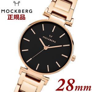 国内正規品 モックバーグ オリジナルMOCKBERG  Original 28 腕時計 IPRG Linked Strap レディース 28mm ステンレスベルト ローズゴールド MO630|bellmart
