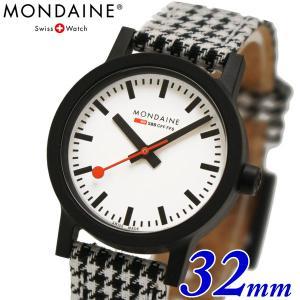 モンディーン 限定モデル 腕時計 Mondaine エッセンス ハウンズトゥース 32mm レディース MS1.32110.LN|bellmart