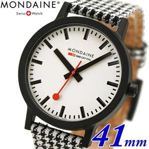 モンディーン 限定モデル 腕時計 Mondaine エッセンス ハウンズトゥース 41mm メンズ MS1.41110.LN|bellmart