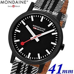 モンディーン Mondaine クリスマス限定モデル 腕時計 エッセンス スコティッシュ メンズ 41mm タータンチェック ブラック x ホワイト MS1.41120.LB bellmart