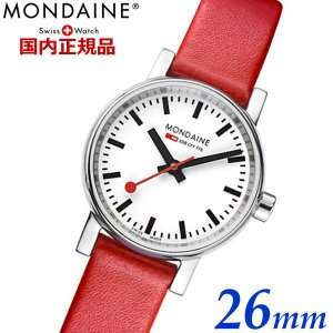 モンディーン MONDAINE エヴォ2 EVO2 26mm レッドベルト 腕時計 レディース スイス国鉄オフィシャル鉄道ウォッチ スイス製 時計 MSE.26110.LC|bellmart