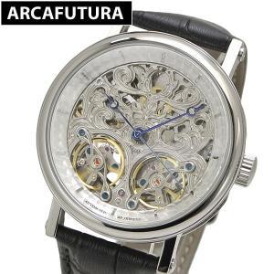 アルカフトゥーラ ARCA FUTURA 腕時計 機械式 自動巻き ツインバレル スケルトン P091601BK|bellmart