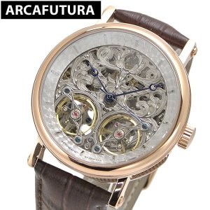 アルカフトゥーラ ARCA FUTURA 腕時計 機械式 自動巻き ツインバレル スケルトン P091601RGBR|bellmart