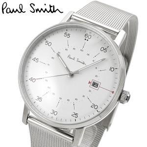ポールスミス Paul Smith 腕時計 メンズ ゲージ Gauge ホワイト文字盤 P10075|bellmart