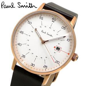 ポールスミス Paul Smith 腕時計 メンズ ゲージ Gauge ホワイト文字盤 P10077|bellmart