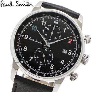 ポールスミス Paul Smith 腕時計 メンズ クロノグラフ ブラック文字盤 P10140|bellmart