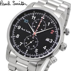 ポールスミス Paul Smith 腕時計 メンズ クロノグラフ ブラック文字盤 P10143|bellmart