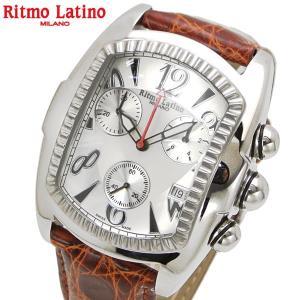 リトモラティーノ Ritmo Latino 腕時計 クラシコ CLASSICO クロノグラフ/ワニ革ブラウンベルト シルバー文字盤/メンズ 国内正規品 QCAL22SS bellmart