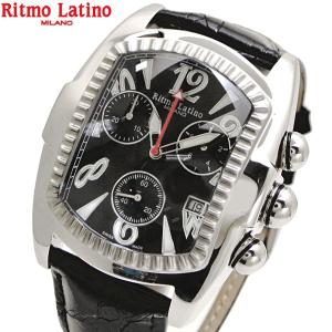 リトモラティーノ Ritmo Latino 腕時計 クラシコ CLASSICO クロノグラフ/ワニ革ブラックベルト ブラック文字盤/メンズ 国内正規品 QCAL22SS bellmart