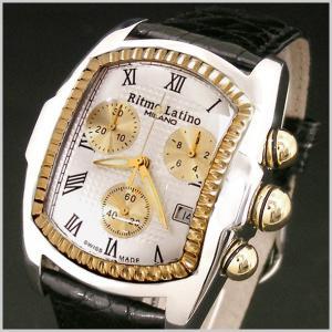 リトモラティーノ Ritmo Latino 腕時計 クラシコ CLASSICO クロノグラフ/ワニ革ブラックベルト シルバー文字盤/メンズ 国内正規品 QCRL21GS-BK bellmart