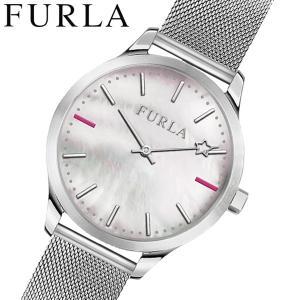 フルラ FULRA 腕時計 レディース ホワイトシェル メッシュベルト LIKE R4253119504|bellmart