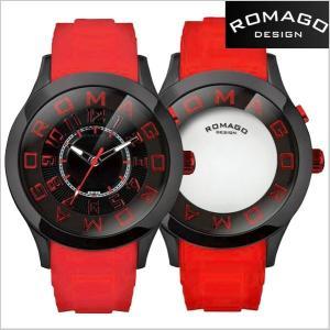 ロマゴ デザイン ROMAGO DESIGN  腕時計 アトラクション ミラーウォッチ シリコンラバーベルト/ブラック x レッド RM015-0162PL-BKRD|bellmart