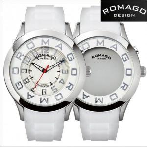 ロマゴ デザイン ROMAGO DESIGN  腕時計 アトラクション ミラーウォッチ シリコンラバーベルト/ホワイト x シルバー文字盤 RM015-0162PL-SVWH|bellmart