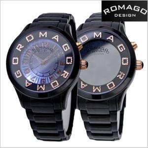 ロマゴ デザイン ROMAGO DESIGN  腕時計 アトラクション ミラーウォッチ ステンレス/ローズゴールド x ブラック レディース・ユニセックス RM067-0162SS-BKRG|bellmart