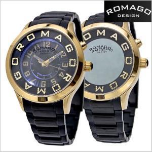ロマゴ デザイン ROMAGO DESIGN  腕時計 アトラクション ミラーウォッチ ステンレス/ブラック x イエローゴールド レディース・ユニセックス RM067-0162SS-GDBK|bellmart