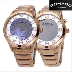 ロマゴ デザイン ROMAGO DESIGN  腕時計 アトラクション ミラーウォッチ ステンレス/ローズゴールド x ホワイト レディース・ユニセックス RM067-0162SS-RG|bellmart