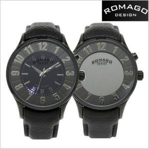 ROMAGO DESIGN ロマゴデザイン 腕時計 NUMERATION (ヌメレーション)ミラーウォッチ 牛革ベルト/ブラック文字盤 ユニセックス・ボーイズサイズ RM068-0053ST-BK|bellmart